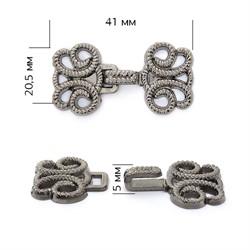 Крючки декоративные металлические 41х20,5 мм цвет черный никель 1 компл.