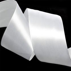 Лента атласная 50 мм цвет 3001 кипенно-белый 1 м