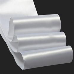 Лента атласная 100 мм цвет 3001 кипенно-белый 1 м