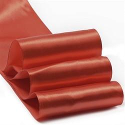 Лента атласная 100 мм цвет 3095 красный 1 м