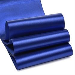 Лента атласная 100 мм цвет 3162 синий 1 м